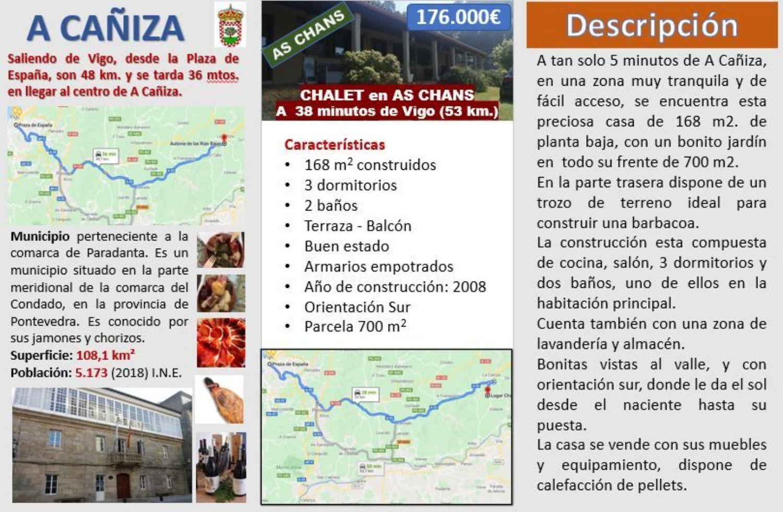 Chalet individual en venta, Lugar Chans, A Cañiza